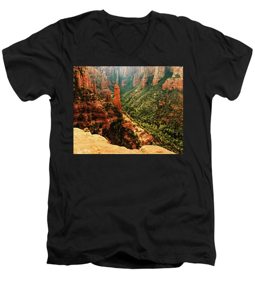 Brins Mesa 07-143 Men's V-Neck T-Shirt by Scott McAllister