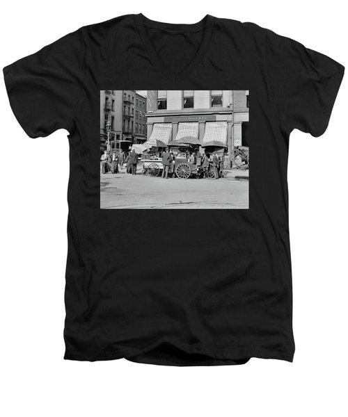 Broad St. Lunch Carts New York Men's V-Neck T-Shirt