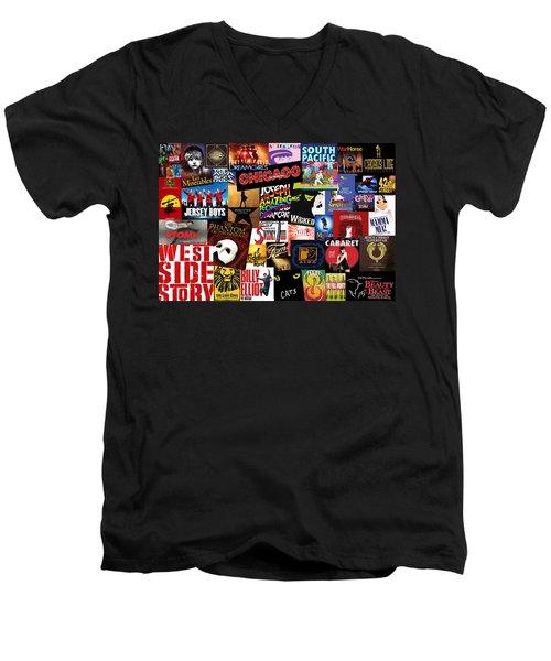 Broadway 3 Men's V-Neck T-Shirt