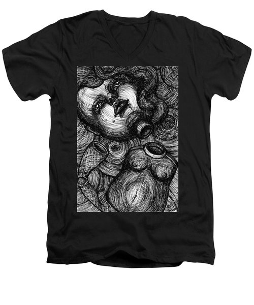 Broken Doll Men's V-Neck T-Shirt