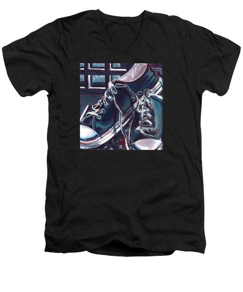 Broken-in Converse Men's V-Neck T-Shirt