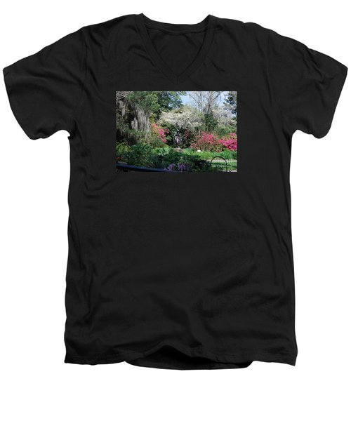 Brookgreen Gardens 2 Men's V-Neck T-Shirt