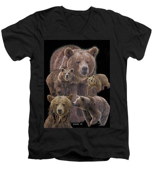 Brown Bears 8 Men's V-Neck T-Shirt