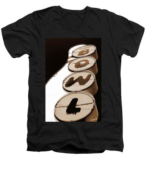 Brown Bowl Men's V-Neck T-Shirt