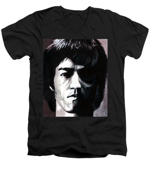 Bruce Lee Portrait Men's V-Neck T-Shirt