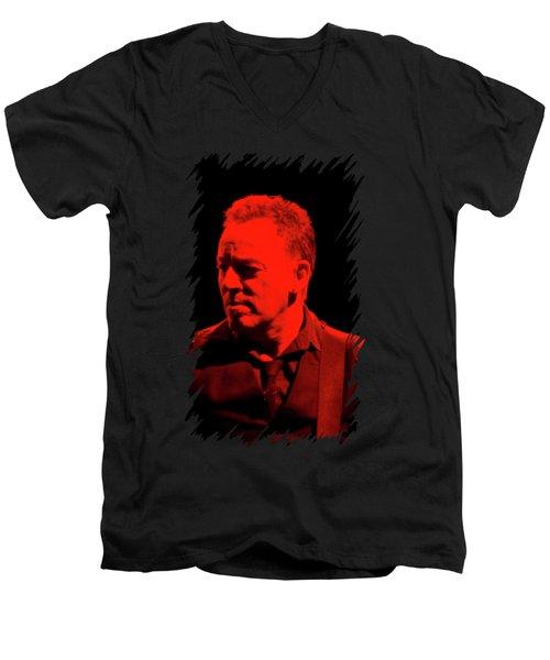 Bruce Springsteen Men's V-Neck T-Shirt by Mona Jain