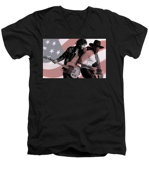Bruce Springsteen Clarence Clemons Men's V-Neck T-Shirt