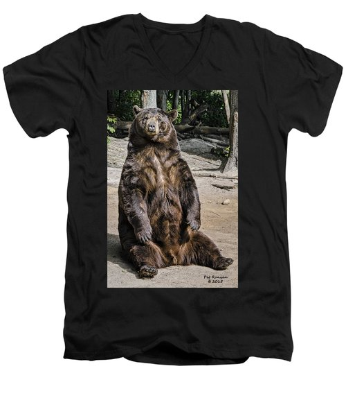 Bruno The Bear Men's V-Neck T-Shirt