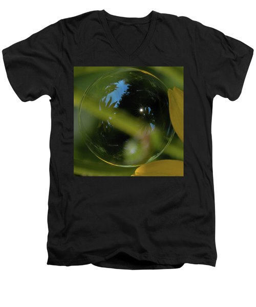 Bubble In The Garden Men's V-Neck T-Shirt