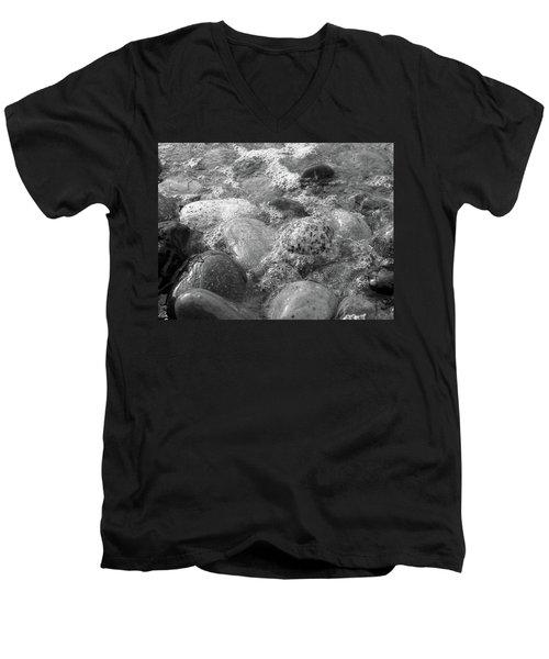 Bubbling Stones Men's V-Neck T-Shirt