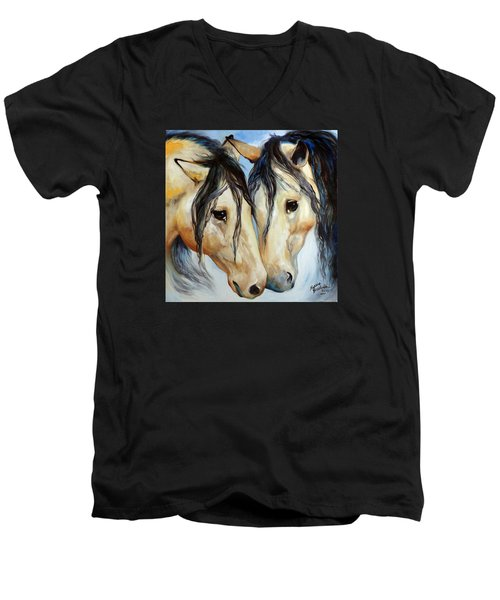 Buckskin Friends Men's V-Neck T-Shirt