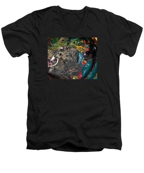 Bucktooth Seal Reaching For Success Men's V-Neck T-Shirt