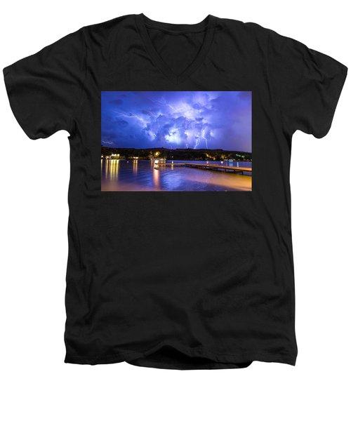 Buffalo Springs Lightning 2 Men's V-Neck T-Shirt