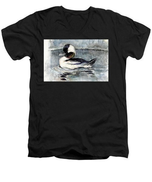Bufflehead Men's V-Neck T-Shirt