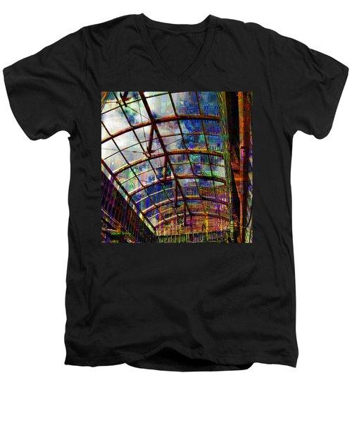 Building For The Future Men's V-Neck T-Shirt