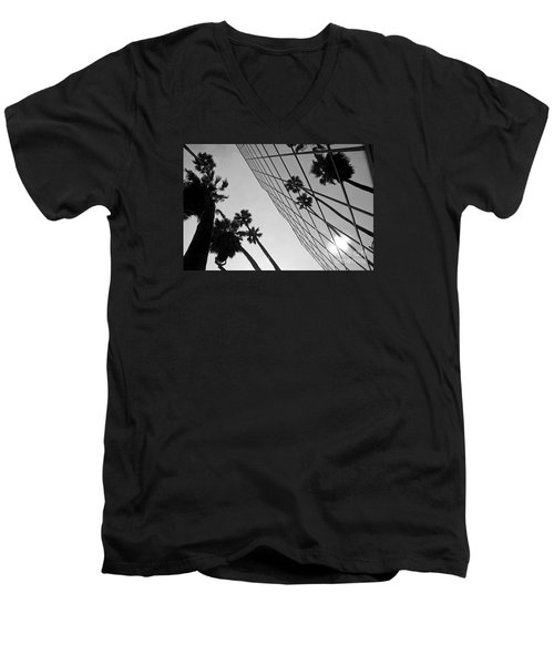 Building On Hollywood 3 Men's V-Neck T-Shirt by Micah May