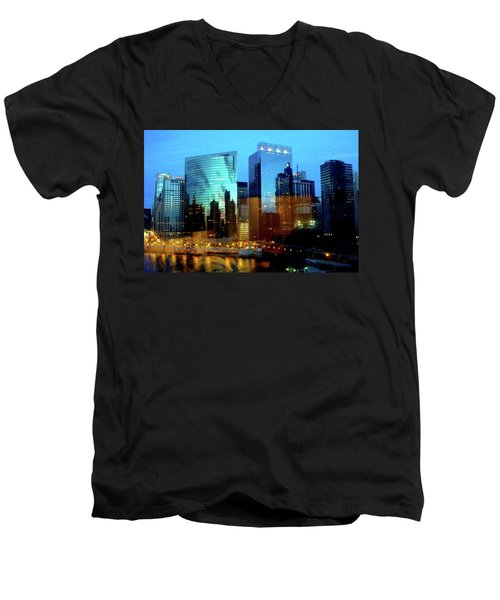 Reflections On The Canal Men's V-Neck T-Shirt