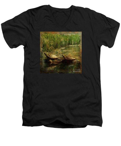 Bump On A Log 2015 Men's V-Neck T-Shirt