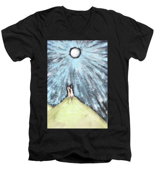 Bunny Moon Men's V-Neck T-Shirt