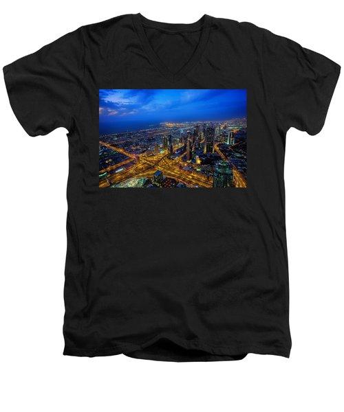 Burj Khalifa View Men's V-Neck T-Shirt