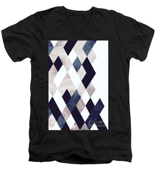 Burlesque Texture Men's V-Neck T-Shirt