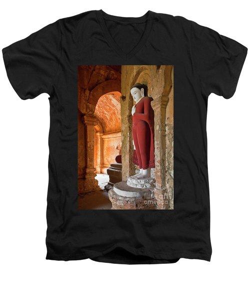 Men's V-Neck T-Shirt featuring the photograph Burma_d2280 by Craig Lovell