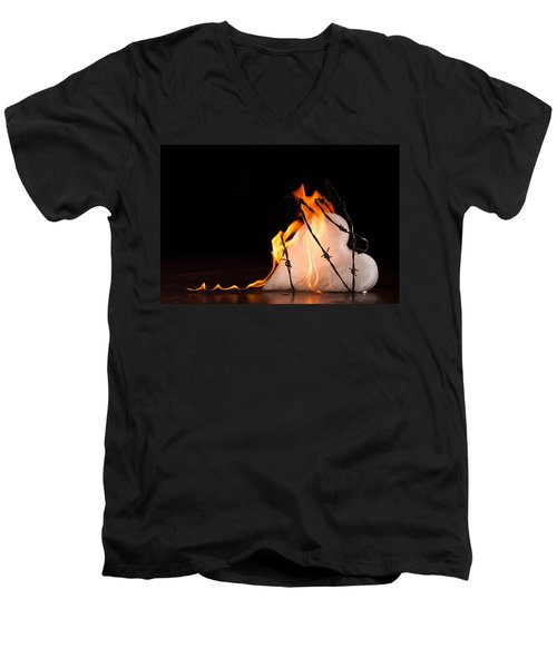 Burning Love Men's V-Neck T-Shirt
