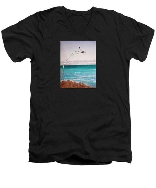 Burns Beach Men's V-Neck T-Shirt by Elvira Ingram
