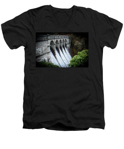 Burrator Reservoir Dam Men's V-Neck T-Shirt