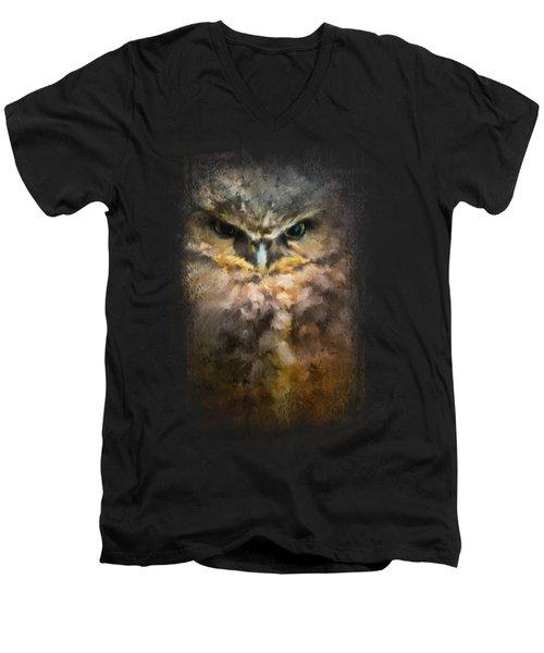Burrowing Owl Men's V-Neck T-Shirt by Jai Johnson