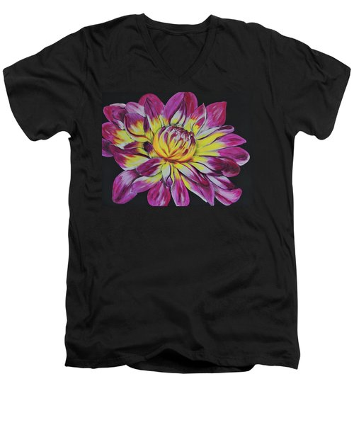 Bursting Bloom Men's V-Neck T-Shirt