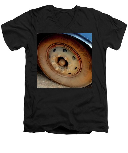 Bus Tyre Men's V-Neck T-Shirt