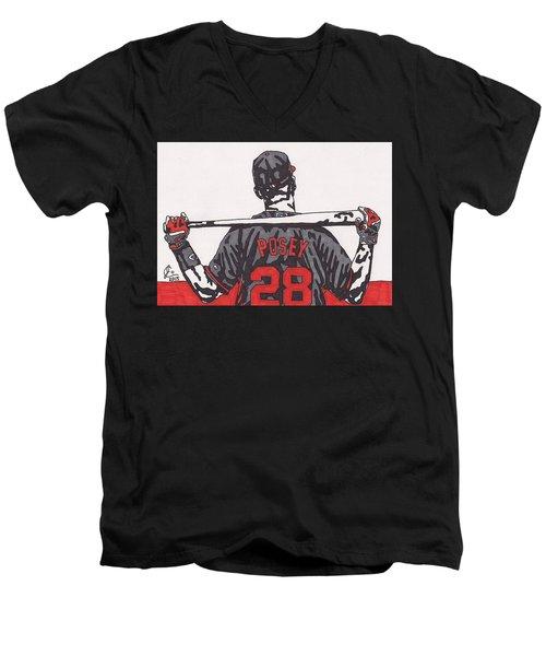 Buster Posey Men's V-Neck T-Shirt