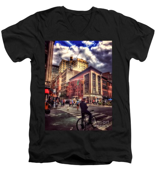 Busy Day In The City Men's V-Neck T-Shirt