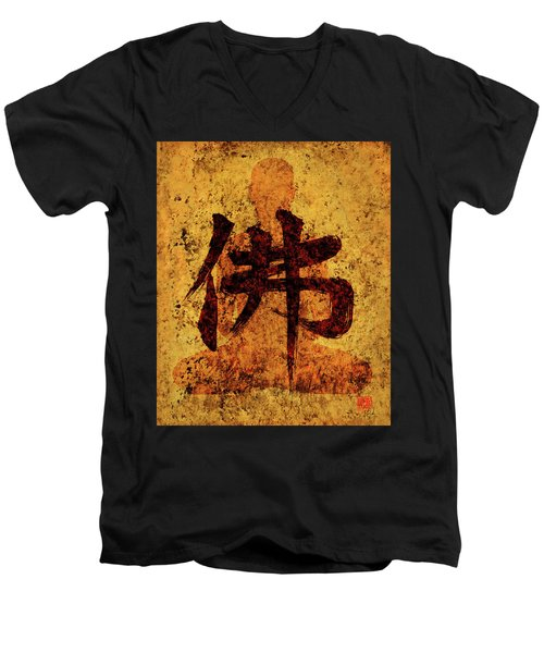 Butsu / Buddha Painting 1 Men's V-Neck T-Shirt