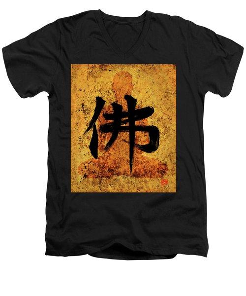 Butsu / Buddha Painting 2 Men's V-Neck T-Shirt