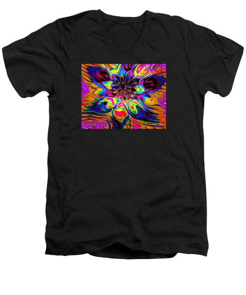 Butterfly Abstract Men's V-Neck T-Shirt