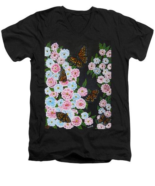 Butterfly Beauty Men's V-Neck T-Shirt