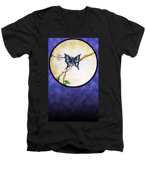 Butterfly Moon Men's V-Neck T-Shirt