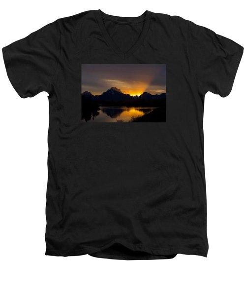 By Oxbow Light... Men's V-Neck T-Shirt