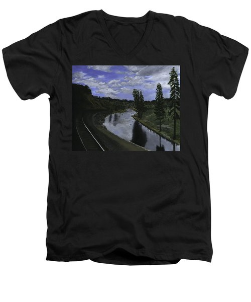 By Rail Men's V-Neck T-Shirt