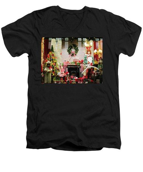 By The Fireplace Men's V-Neck T-Shirt