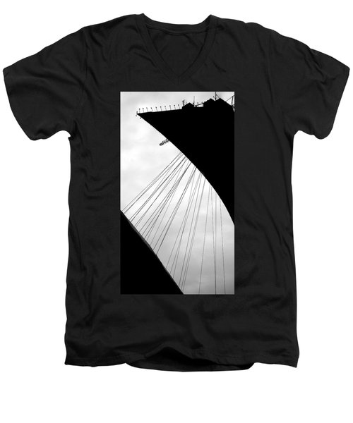 Men's V-Neck T-Shirt featuring the photograph Cables And Funes by Valentino Visentini