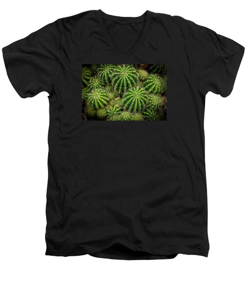 Men's V-Neck T-Shirt featuring the photograph Cacti by Keith Hawley