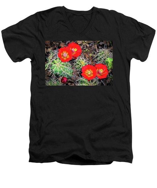 Cactus Bloom Men's V-Neck T-Shirt