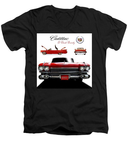 Cadillac 1959 Men's V-Neck T-Shirt by Gina Dsgn