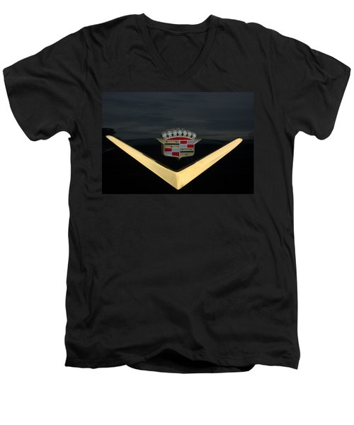 Cadillac Hood Emblem Men's V-Neck T-Shirt