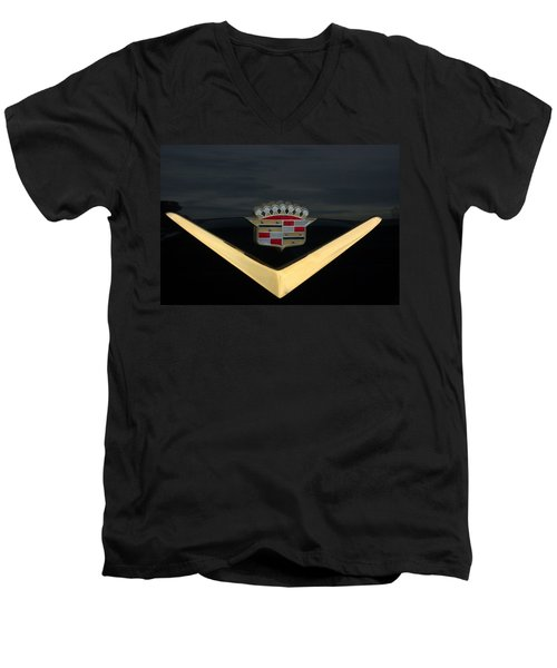 Cadillac Hood Emblem Men's V-Neck T-Shirt