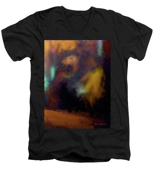 Cafe Window Men's V-Neck T-Shirt by Glenn Gemmell