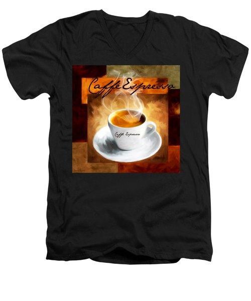 Caffe Espresso Men's V-Neck T-Shirt
